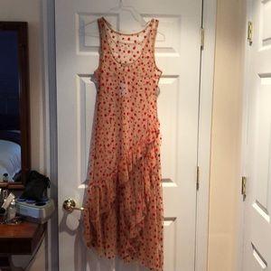 Zara Mid-length tuille   Ruffled Dress  Size  M